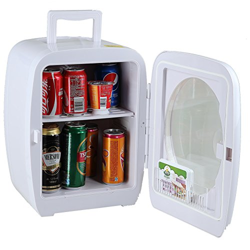 SMAD Thermoelectric Cooler and Warmer Travel Mini Fridge, White,15 Liters (Thermoelectric Travel Cooler compare prices)