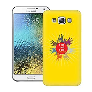 Zapcase Printed Back Case For Samsung Galaxy E7