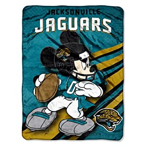 NFL Jacksonville Jaguars Mickey Mouse Ultra Plush Micro Super Soft Raschel Throw... by Northwest