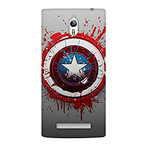 Special Blood Red Round Back Case Cover for Oppo Find 7