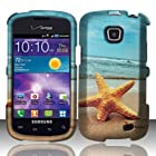 For Samsung Illusion / Galaxy Proclaim i110 (Verizon/Straight Talk) Rubberized Design Cover - Star Fish