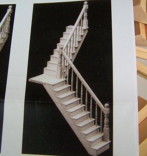treppe bausatz f r puppenstuben 1 12 unbehandelte holz bis 28 cm hoch. Black Bedroom Furniture Sets. Home Design Ideas