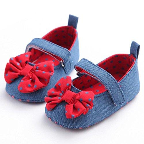 Chaussures de bébé,Fulltime®Bébés filles bowknot Denim Toddler Princesse Kid Shoes