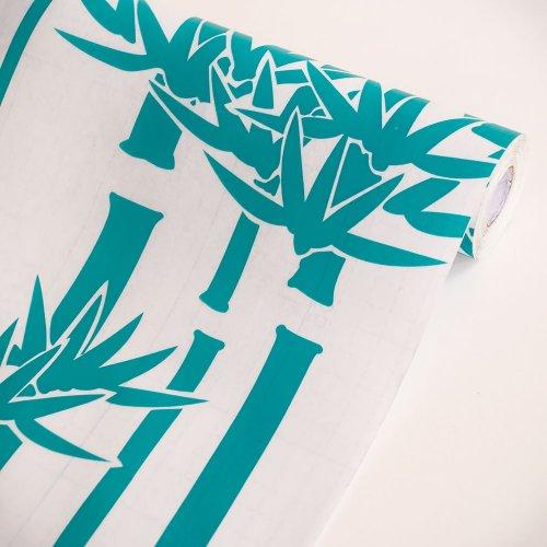 Green Bamboo - Self-Adhesive Printed Window Film Home Decor(Sample)