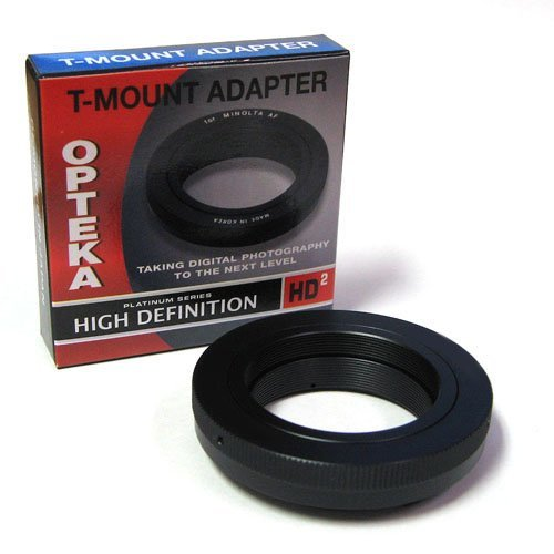 Opteka T-Mount Adapter For Canon Eos 70D, 60D, 50D, 40D, 30D, 20D, 7D, 6D, 5D, 1D, Rebel T5I, T5, T4I, T3I, T3, T2I, T1I, Xs, Xsi, Xti And Xt Digital Slr Cameras