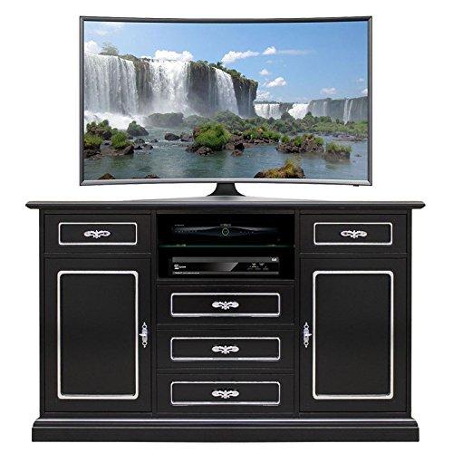 mobile-tv-multiuso-black-silver-fashion-con-cassetti-e-ampio-vano-frontale