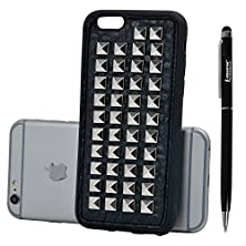 buy Rivet Iphone 6S Case,Kingstar Punk Rock Rivet Skull Iphone 6 Shell Heavy Metal Soft Cover Pyramid Studs Rivet Case Cover
