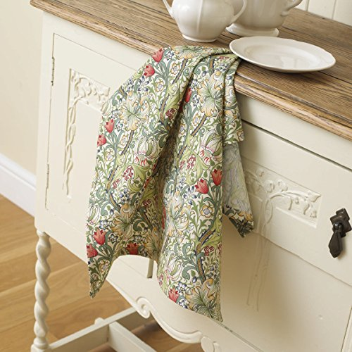 licensed-william-morris-golden-lily-100-cotton-floral-tea-towel