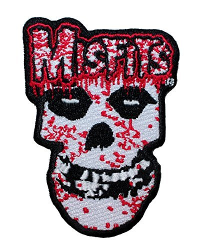 Misfits Dripping Blood Fiend Skull Logo Punk Rock Band Iron On Applique Patch by Cool-Patches