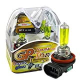 GP THUNDER 3500K H11 55W Golden Yellow Light Bulbs for Fog Light -High Beam - Low Beam SGP35K-H11 PAIR (Color: Golden Yellow)