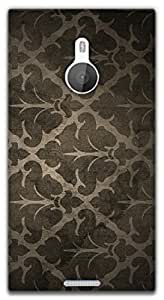 The Racoon Grip Dark Colored Abstract Pattern hard plastic printed back case / cover for Nokia Lumia 1520