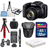 Canon PowerShot SX530 HS - Wi-Fi Enabled Digital Camera with deluxe accessory bundle including 32GB SDHC memory card Class 10 & lens cleaning kit + Extra Battery & AC DC Turbo Travel Charger.