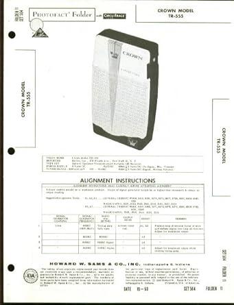 Crown Model TR-555 Transistor Radio Photofact 1960