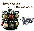 Olde Thompson 16-Jar Orbit Spice Rack (Spice Rack with Spice Labels)
