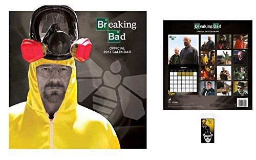 Set: Breaking Bad, Calendario Ufficiale 2017 (30x30 cm) E 1x Portachiave (6x4 cm)