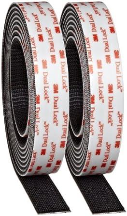3M Dual Lock Reclosable Fastener TB3550 250/250 Black, 1 in x 10 ft (1 Mated Strip/Bag)