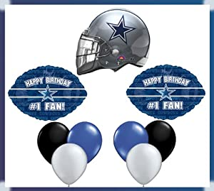 Amazon.com: Dallas Cowboys Happy Birthday #1 Fan Balloon Set: Arts