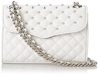 Rebecca Minkoff Quilted Mini Affair Cross Body With Studs,White,One Size