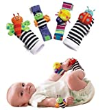 Lamaze Wrist Rattles and Foot Finders Set of 4pcs New