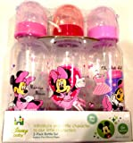 Disney Baby 3-pack 9oz Bottle Set Pink Minnie Mouse BPA Free 0+ Months Medium Flow