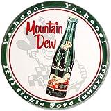 "Mountain Dew Bottle 12"" Round Metal Sign"