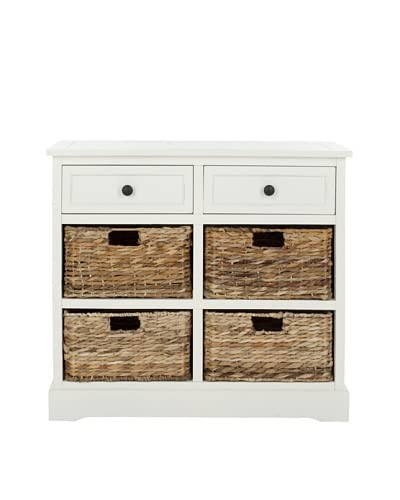 Safavieh Herman Storage Unit, Distressed Cream