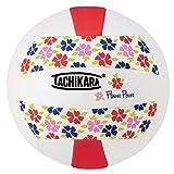 Tachikara SofTec Flower Power Volleyball, Scarlet/White