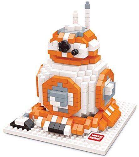 Figura di BB-8 di Star Wars da montare con mini blocchi. 592 mattoncini in miniatura.