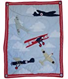Powell Craft Vintage Plane Cot Quilt