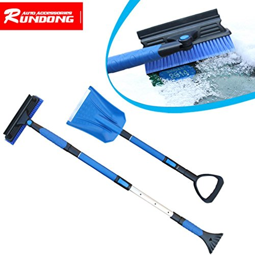 Ice Scraper, Home Car Snow Ice Scraper SnoBroom Stretching Snowbrush Shovel Removal Brush Set (52 Inch Snow Brush compare prices)