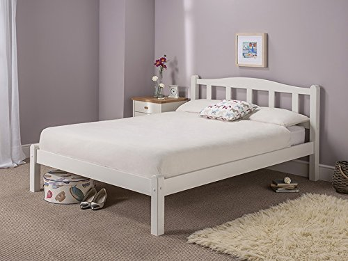 Delightful Snuggle Beds Amberley White 2FT6 Small Single Bed Frame White