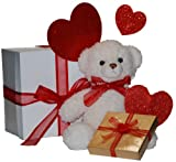 'Beary Much Love' Teddy Bear with Gourmet Chocolate