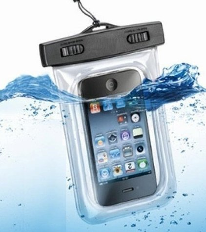 最大5.5インチ画面対応!リストストラップ・首掛け付き!国際規格IPX8取得品!2014年最新版!防水ケース for iPhone / GALAXY S/ ARROWS / AQUOS Phone / Xperia Z2 シースルー 防水 ケース 防水保護等級 : IPx8