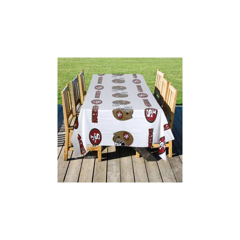 NFL San Francisco 49ers White Team Logo Table Cover