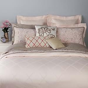 kate spade new york Magnolia Park Blush Pink 300 TC Full / Queen Duvet Cover