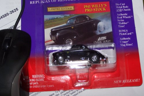 johnny lightning classic gold collection black 1941 willy's pro stock