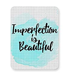 PosterGuy Imperfection Imperfection, Beautiful, Minimal, Watercolor, Cute, Lovely, Love, Saying, Text, Mouse Pad