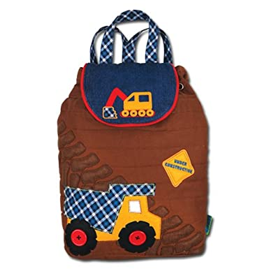 Stephen Joseph Construction Signature Quilted Backpack