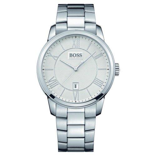 Hugo Boss 1512976 43Mm Silver Steel Bracelet & Case Mineral Men'S Watch