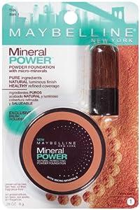 Maybelline New York Mineral Power Powder Foundation, Tan, Dark 1, 0.28 Ounce