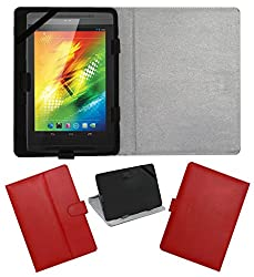 ACM LEATHER FLIP FLAP TABLET HOLDER CARRY CASE STAND COVER FOR XOLO PLAY TEGRA NOTE RED