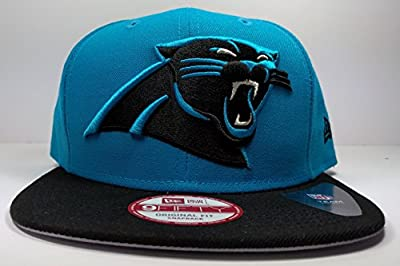 New Era Carolina Panthers 9Fifty Blue Bind Back On Field Logo Adjustable Snapback Hat NFL