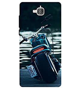 Chiraiyaa Designer Printed Premium Back Cover Case for Huawei Honor Holly 2 Plus (super bike water nature) (Multicolor)