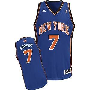 NBA New York Knicks Carmelo Anthony Swingman Jersey, Blue, XX-Large