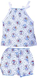 Amy Baby Girls' Dress (K36_2_Blue_6-12 Months, Blue, 6-12 Months) - Special Offer with Free Delivery - 100% Cotton Exclusive Kidswear