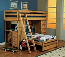 Hot Sale Coaster Furniture Twin over Twin Loft Bed Wrangle Hill CO460141