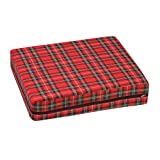 Duro-Med Foam Seat Cushion for Your Wheelchair, Car or Chair, with Cover, Plaid, 4 Inch x 16 Inch x 18 Inch
