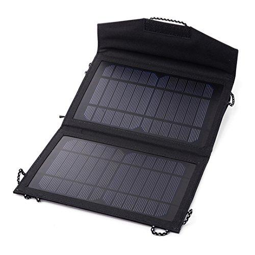 Panel solar pleglable de 10vatios de potencia con el que podrá cargar teléfonos móviles