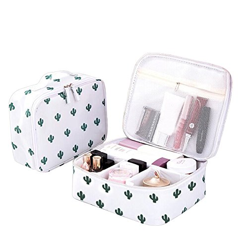 a4ad13a9c037 Bonaweite Cactus Travel Makeup Bags Small Brush Cosmetic Case Mini Pouch  Holder Organizer Portable Vanity bag ...