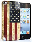 CASEiLIKE® - USA, American Flag Retro Vintage - Snap-on hard case back cover for Apple 5G Touch / iPod Touch 5th Generation - 32GB 64GB - with SCREEN PROTECTOR 1pcs.